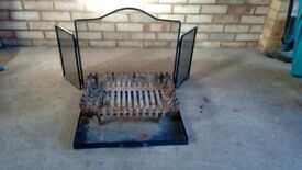 Log Fire Basket with Tray and Fire Guard