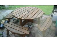 Picnic/pub table and chair