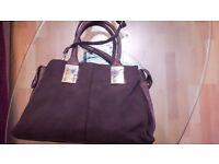 Imitation suede handbag