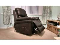 Brown Leather Electric Recliner /Assisted Riser Armchair