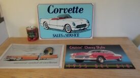 Metal enamel car signs