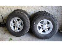 Set of 4 Land Rover Boost Alloys and tyres