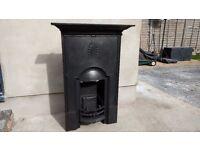 Cast iron Victorian fireplace
