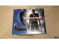 PS4 SLIM 500GB with The Last of us, Uncharted 4, The Witcher 3 - only used to complete these games!