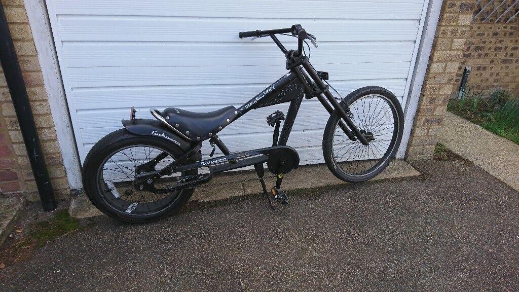 Schwinn Stingray Stealth Chopper Custom Cruiser Bike In
