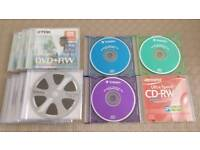7 Dvds + 4 CDs all Rewritable and New