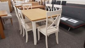 Julian Bowen Davenport Dining Table & 6 Dining Chairs Can Deliver
