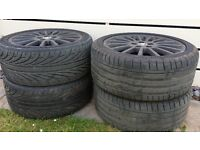 245x40x18 TYRES ALLOY WHEELS X 4