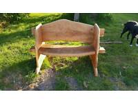 Bespoke, handcrafted, solid oak, benches