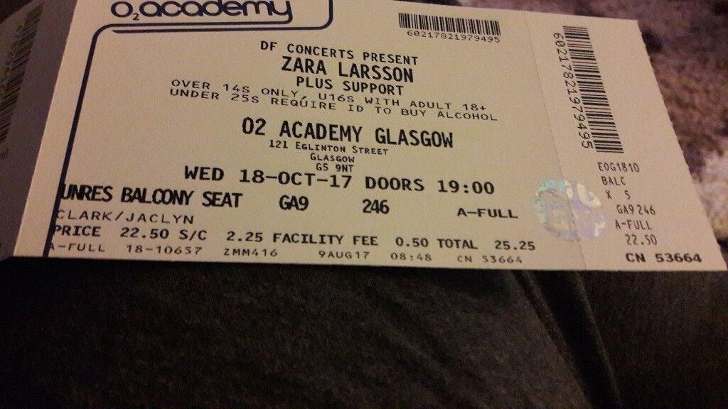 Zara Larsson Tickets
