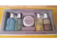 Brand New-Molton Brown gift set 4 body wash & a soap