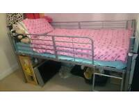 Silver Mid high sleeper bed