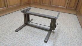 Sturdy Caravan/Motorhome folding table base/bed base, single lever lock