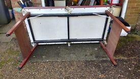 2 Small snooker tables with balls, cues, rests, triangle and chalk - OFFERS INVITED