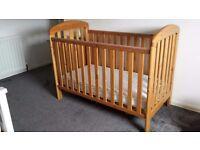 Pine Cot and mattress