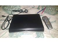 Sky hd box with remote and all wires