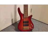Shine Extreme 6 String Bass Guitar - Collection Only.