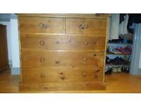 Rustic Solid Pine Chest of Drawers