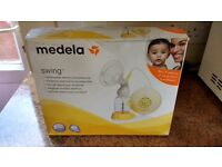 Medela Swing electric breast pump with lots of spares and extras
