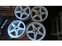 "Mitsubishi Honda Wheels 17"" White HINODEX"