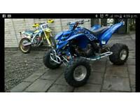 Yamaha raptor 660 road legal and suzuki rmz250 swap ktm kxf crf rmz supermoto quad farm qusd