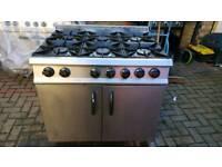 Moorwood volcan 6 burner commercial cooker