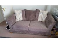 Perfect condition 2 seater bed settee and three seater