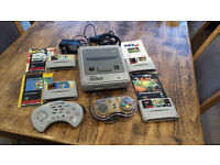 SUPER NINTENDO SNES CONSOLE BUNDLE + 4 GAMES + 2 CONTROLLERS SUPER MARIO WORLD EARTHWORM JIM FIFA