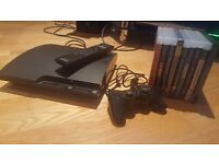 PS3 Slim 160gb + 9 Games