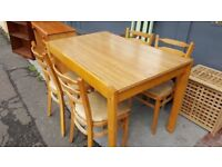 Vintage Kitchen Table & 4 Chairs