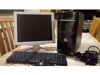 Hp desktop PC computer excellent condition as new Windows 7