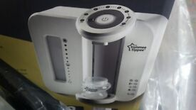 Tommee Tippee milk maker and steralizer comes with bottle warmer