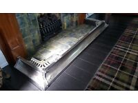 Art Deco chrome fireplace fender for sale
