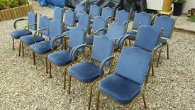 Job lot of chairs - restaurant club hall pub waiting room movie prop theater etc..