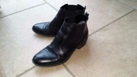 soft Italian black leather ankle boots size 5