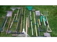 Assorted garden tool