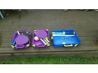 Children's and Adult Swing ball sets + Badminton net + Bats