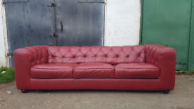 oxblood 3 Seater Chesterfield