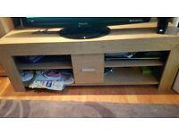 Oak tv unit with storage