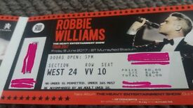Robbie Williams tickets Murrayfield 9th June