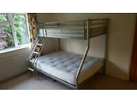 Bunk bed triple trio sleeper with mattresses price reduced