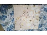 Gold and cream flower canvas