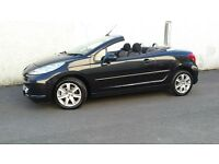 OUTSTANDING CONVERTIBLE PEUGUEOT 207 CC ONLY 56000 MILES FROM NEW,foucus,bmw,astra,mx5,tt,mr2,leon,
