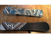Two snowboards for sale, only used once