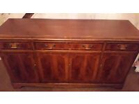 solid wood sideboard in very good condition with locks working and key