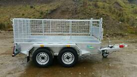 new 8 2 X 4 2 twin axle trailer mish sides removable Cookstown