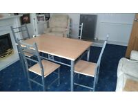 Dining table and 4 matching chairs