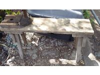 Antique pig bench curing bench