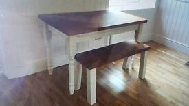 Upcycled table and bench