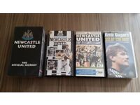 4 x Newcastle United VHS Video Cassettes.